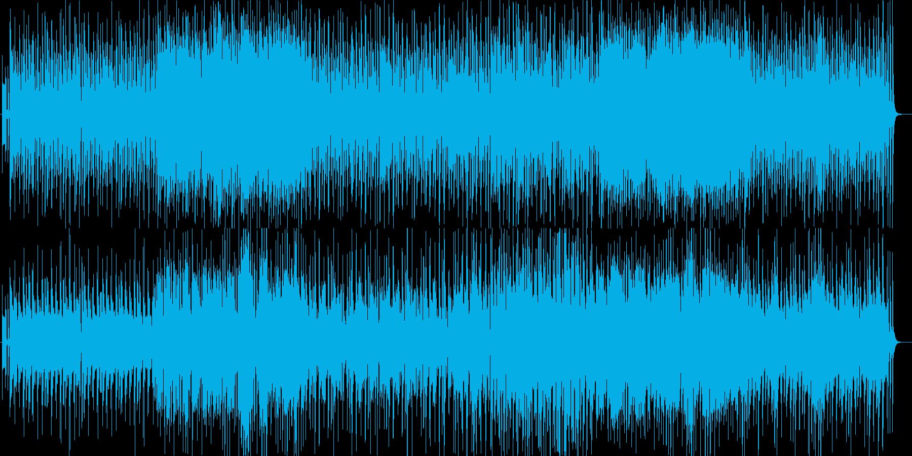 ほのぼのゆっくりなシンセサイザーサウンドの再生済みの波形
