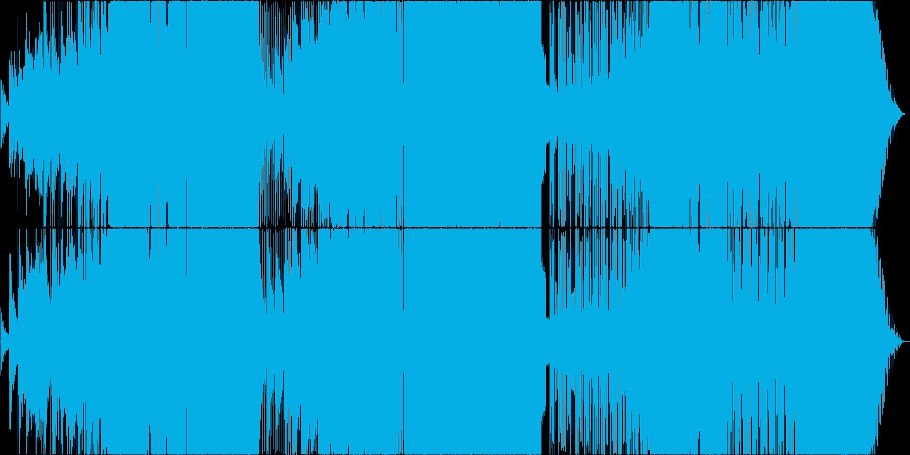 ゆったり切ないEDM系ロックの再生済みの波形