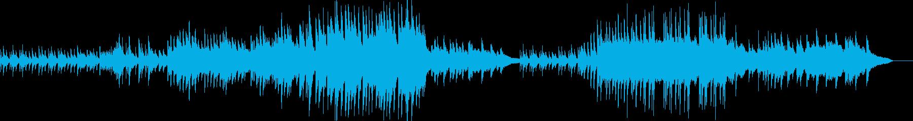 壮大で叙情的なピアノバラードの再生済みの波形