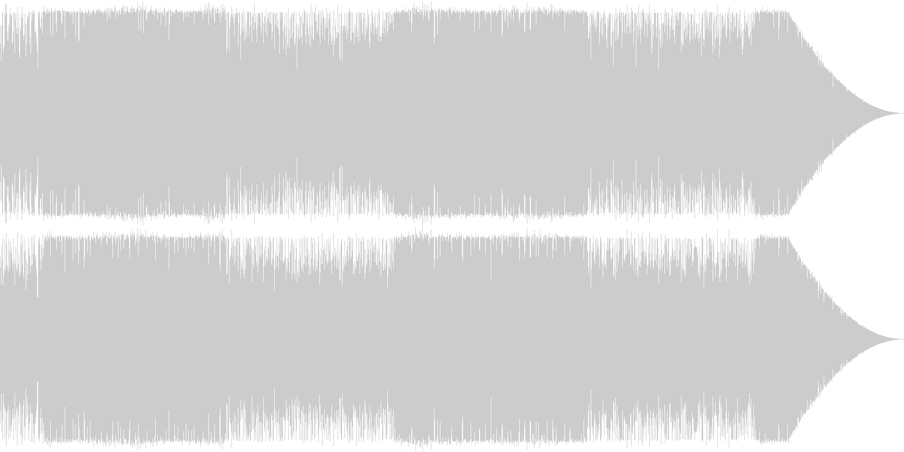 明快単純ポップな曲の未再生の波形