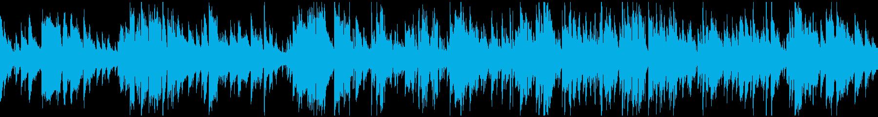 スマートで神秘的ゆったりジャズ※ループ版の再生済みの波形