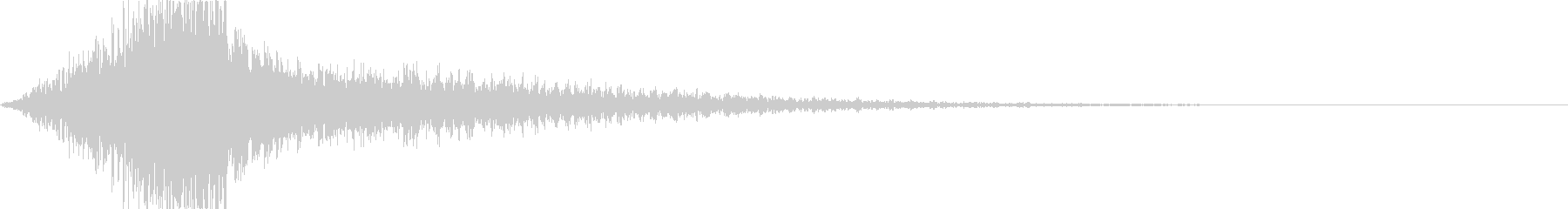 迫力のサウンドをタイトルロゴにの未再生の波形