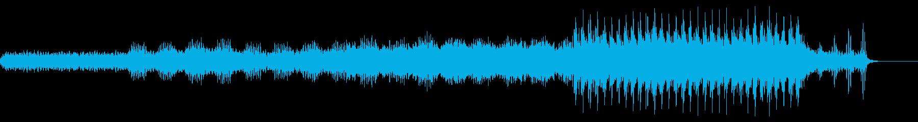 思いを届け ワクワクするな曲の再生済みの波形