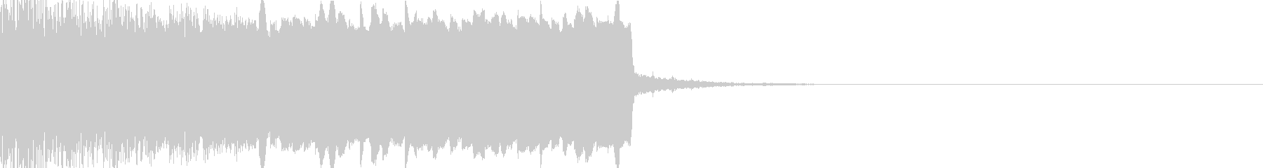 シンセ上昇確定音の未再生の波形