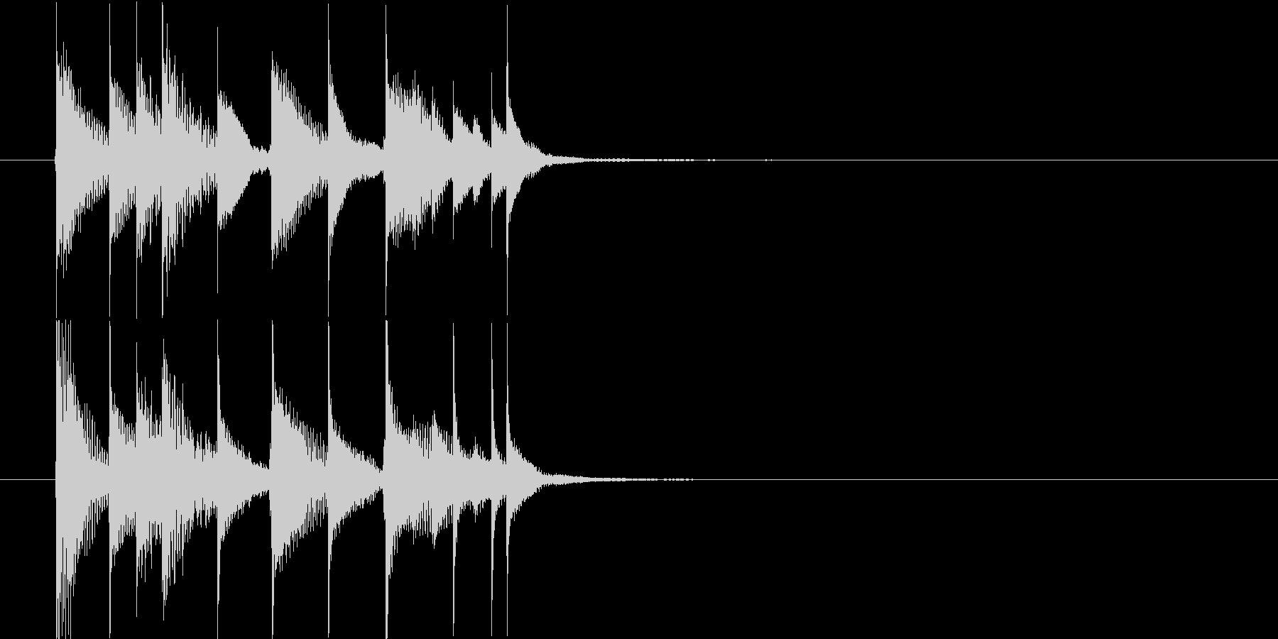 サウンドロゴ◆可愛らしく優しいシロフォンの未再生の波形