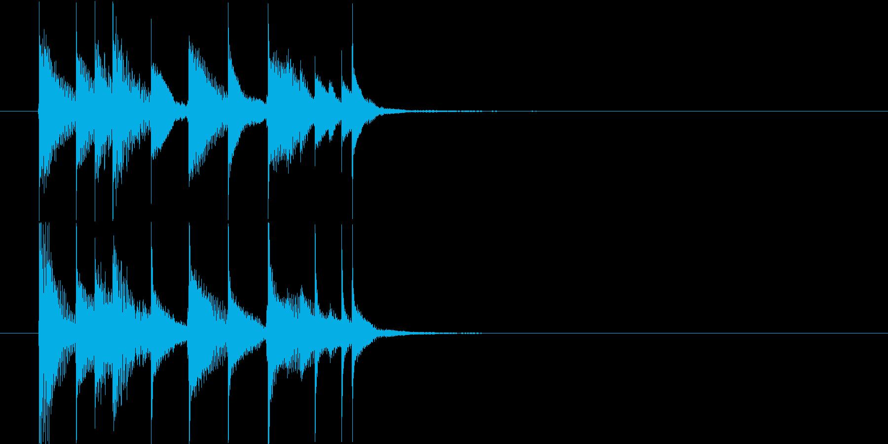 サウンドロゴ◆可愛らしく優しいシロフォンの再生済みの波形