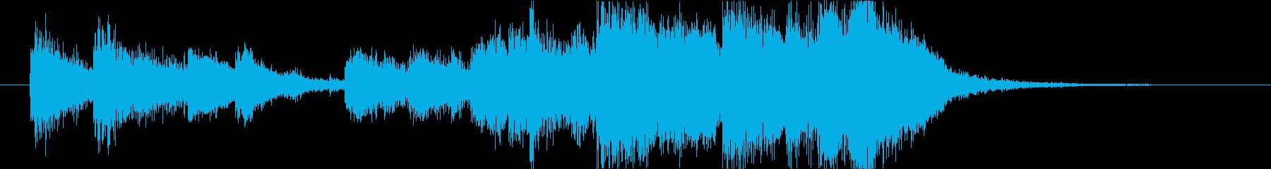 軍事モノアニメ的なジングルの再生済みの波形