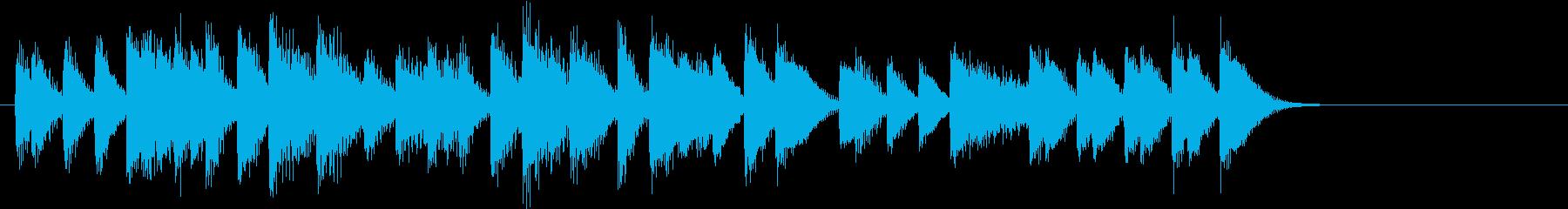 ウキウキ♪シンコペーションピアノジングルの再生済みの波形