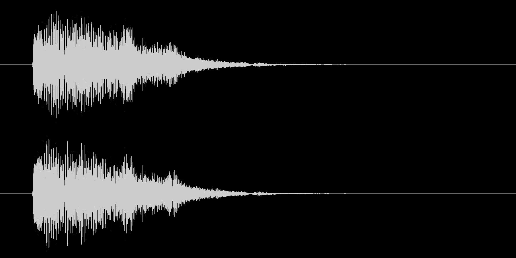 【アクセント43-1】の未再生の波形