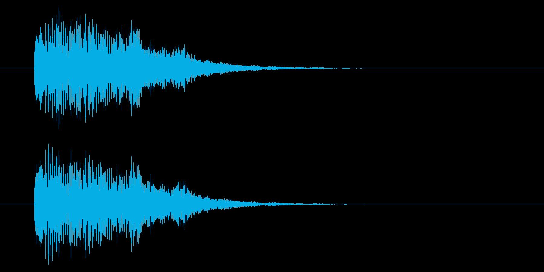 【アクセント43-1】の再生済みの波形