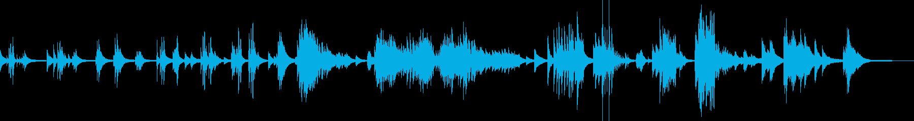 しっとり切ないピアノバラードの再生済みの波形