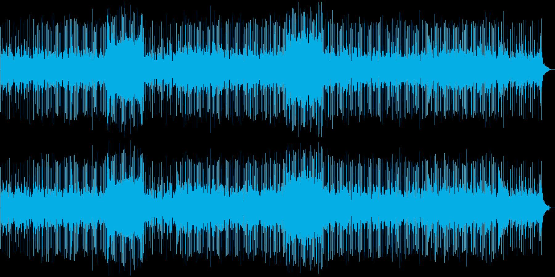 スローなバラード調の曲の再生済みの波形