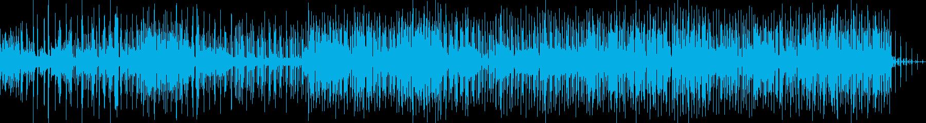 シンセリードがメインのポップスソングの再生済みの波形