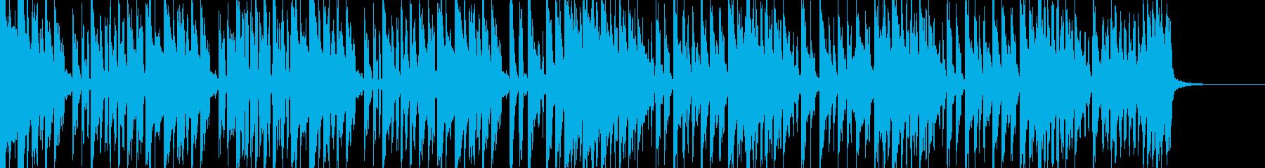 スクラッチが目立ったブレイクビーツの再生済みの波形