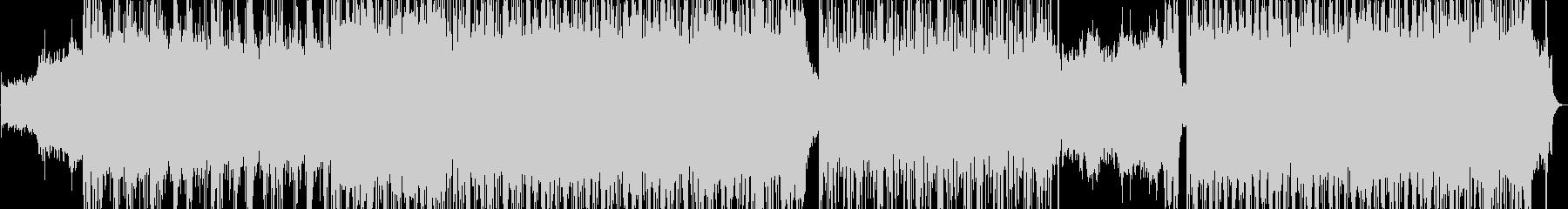 アップテンポで激しいデジタルロックの未再生の波形