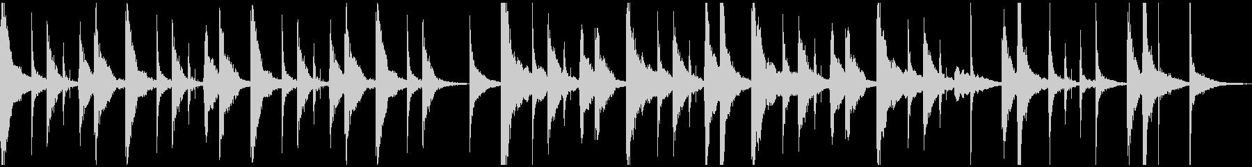 ほのぼのムードのジングル(ループ)の未再生の波形