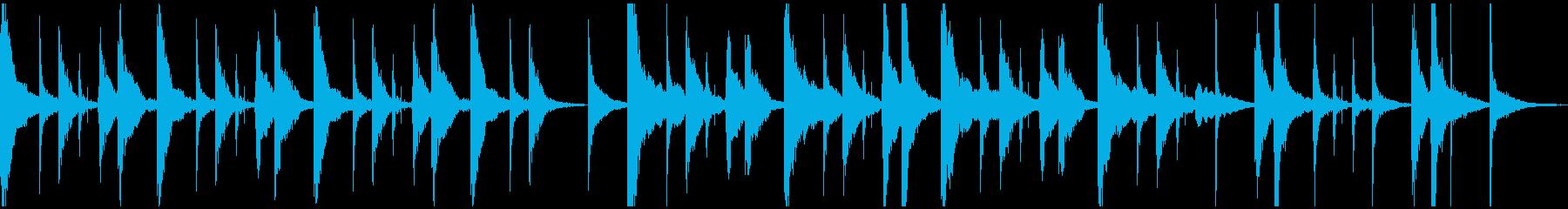 ほのぼのムードのジングル(ループ)の再生済みの波形