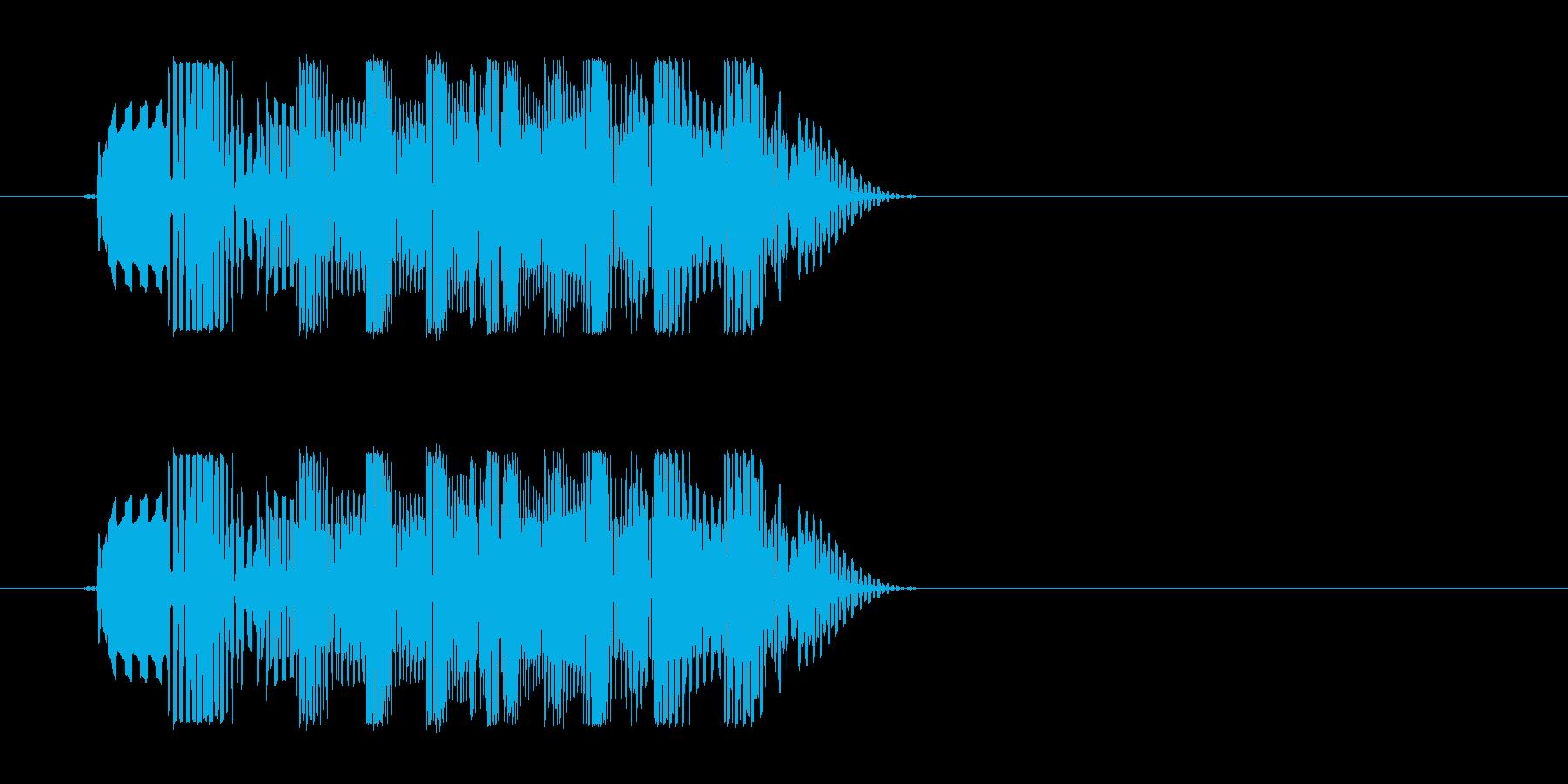 ユーモラスでかわいい効果音の再生済みの波形