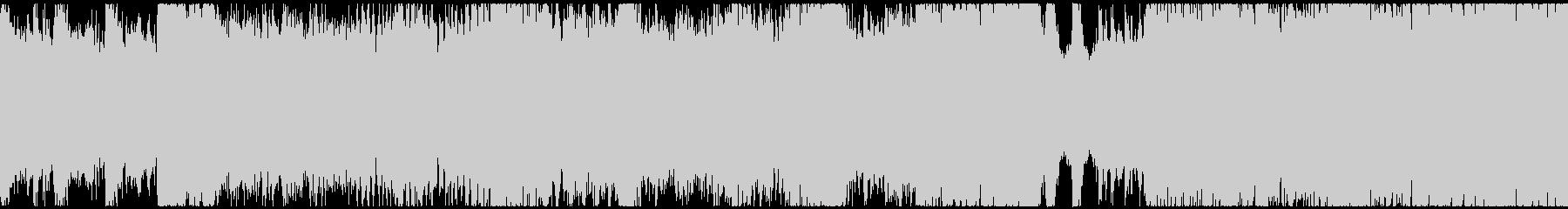 荘厳で激しいオーケストラ戦闘曲(ループ)の未再生の波形