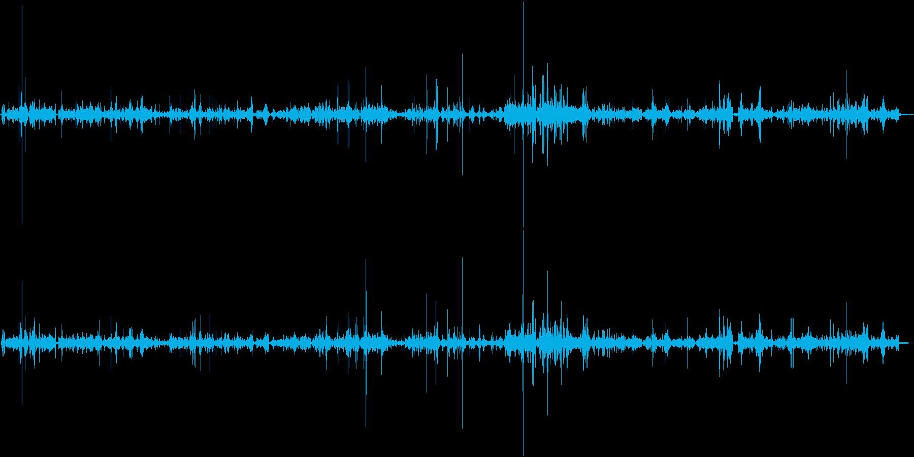 【生録音】ASMR 布の擦れる音・ノイズの再生済みの波形