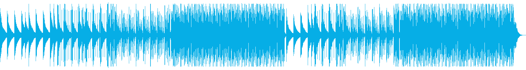 海を感じるトロピカルハウスの再生済みの波形