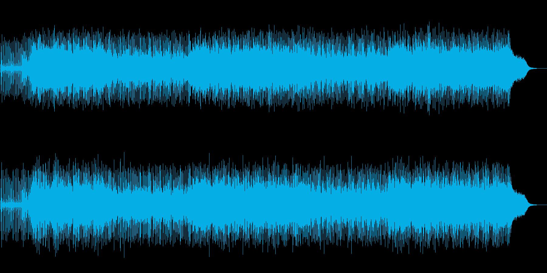 シャッフルしたポップの再生済みの波形