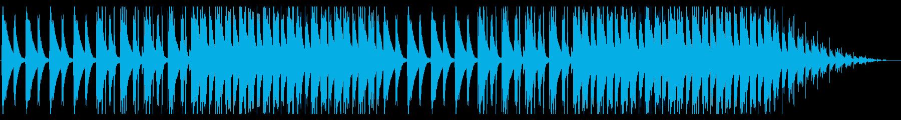 ラフで寂れた雰囲気のHIPHOPの再生済みの波形