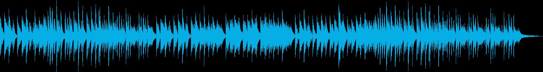 美しく悲しいピアノバラード曲の再生済みの波形