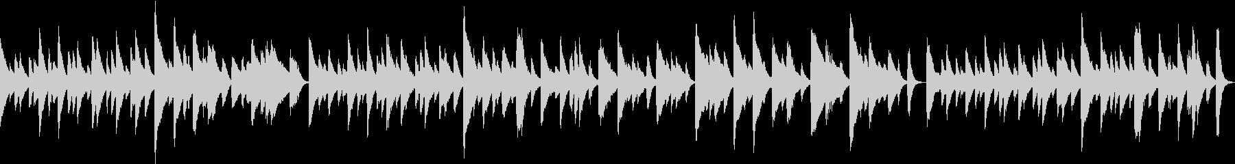 ノスタルジックなピアノソロBGMの未再生の波形