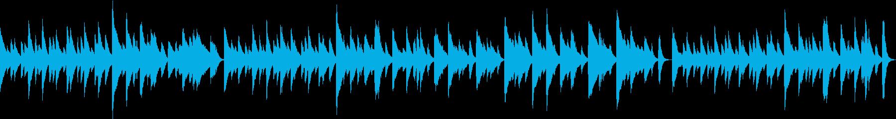 ノスタルジックなピアノソロBGMの再生済みの波形