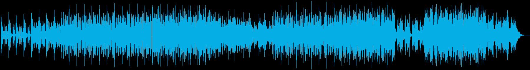 透明感の広がりがあるエレクトロの再生済みの波形