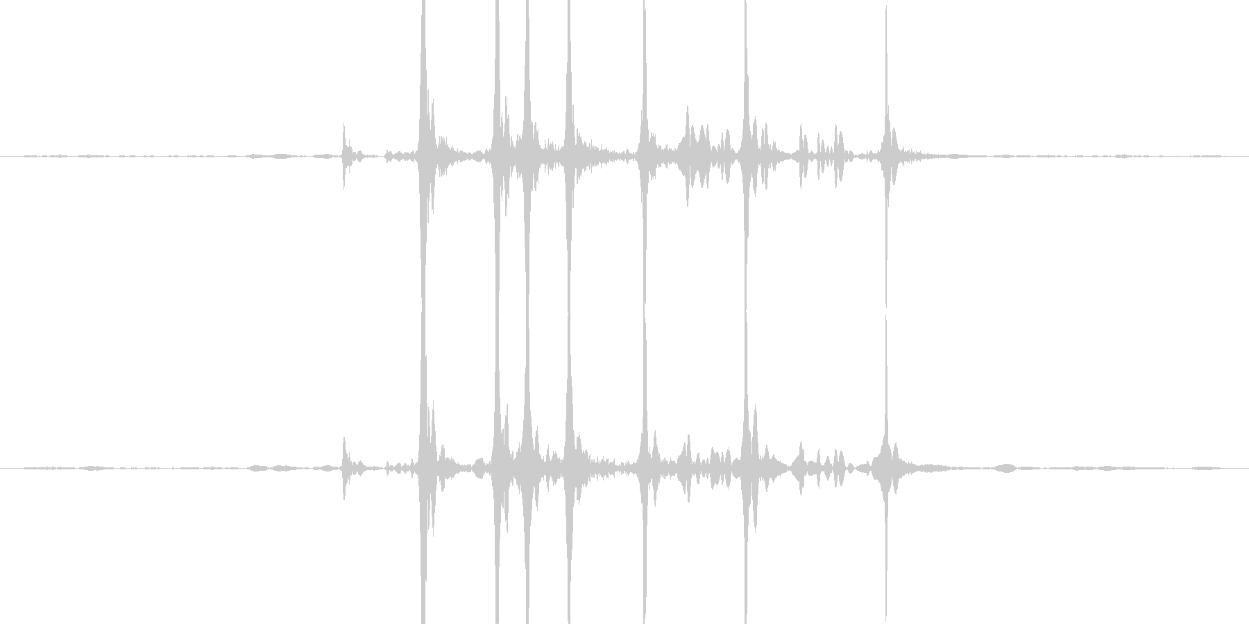 カッターを出す音ですの未再生の波形