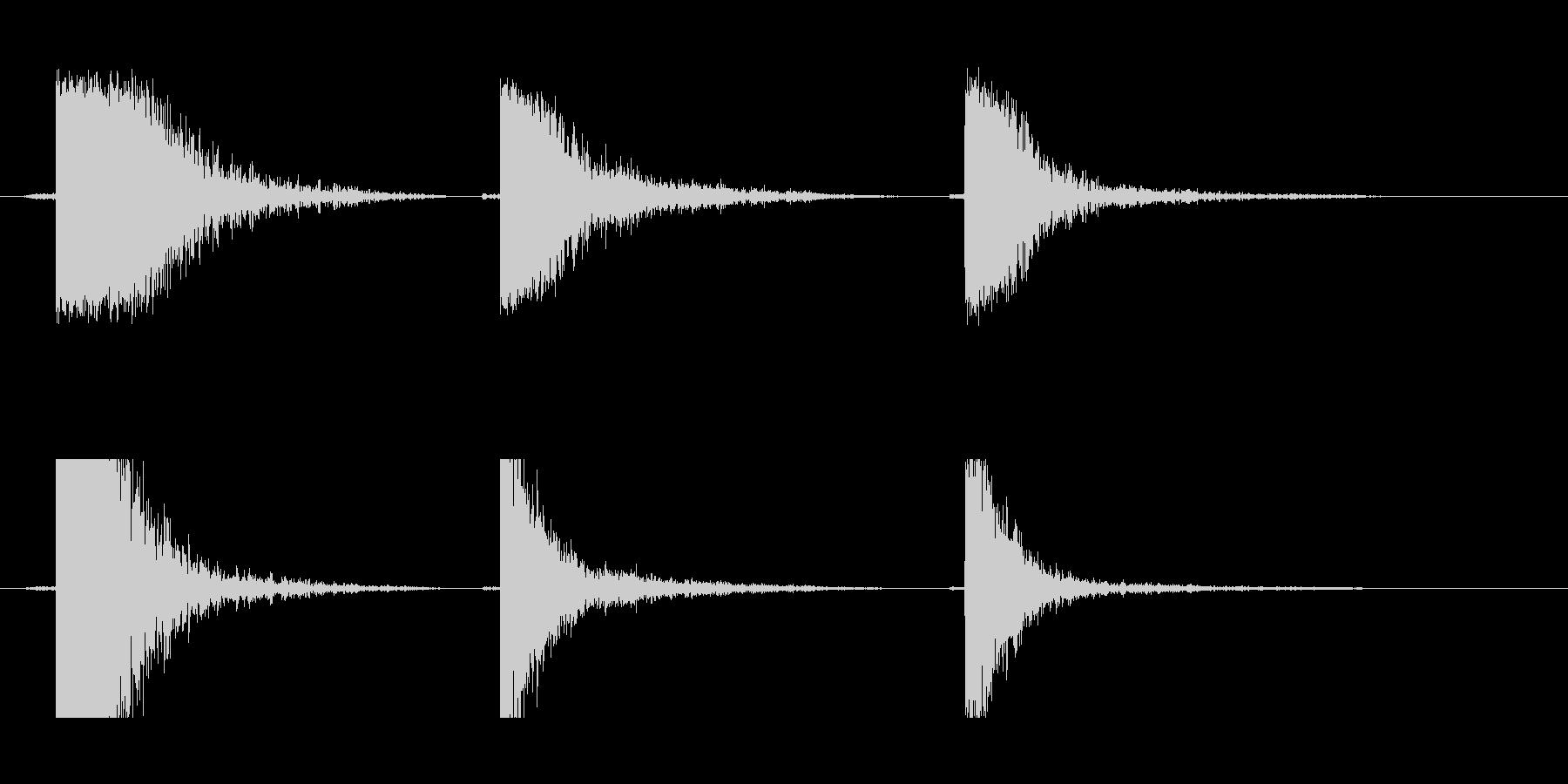 メタルビーム中空ドロップの未再生の波形