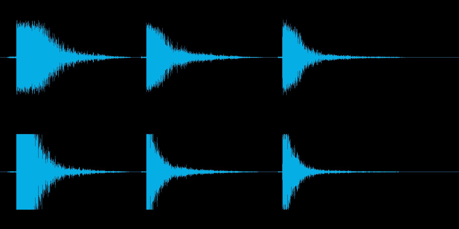 メタルビーム中空ドロップの再生済みの波形