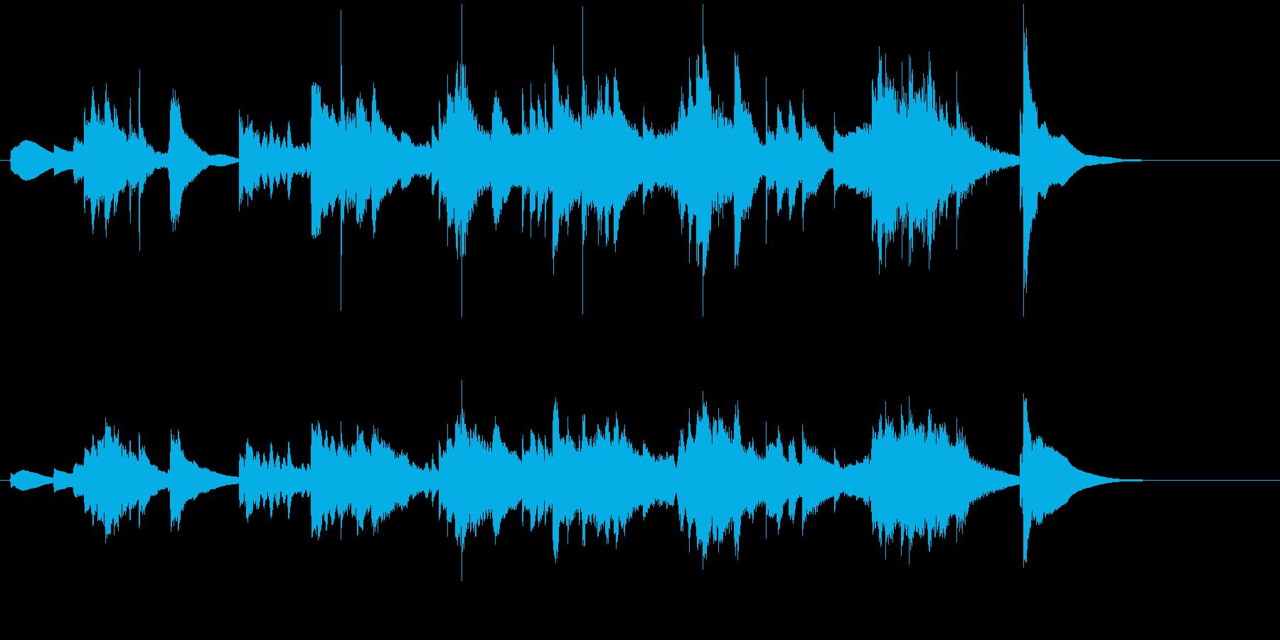 正月 尺八 お琴の再生済みの波形