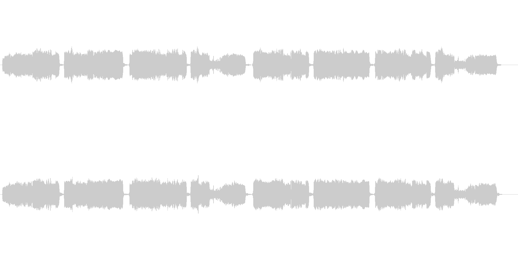 「蛍の光」の篠笛独奏の未再生の波形