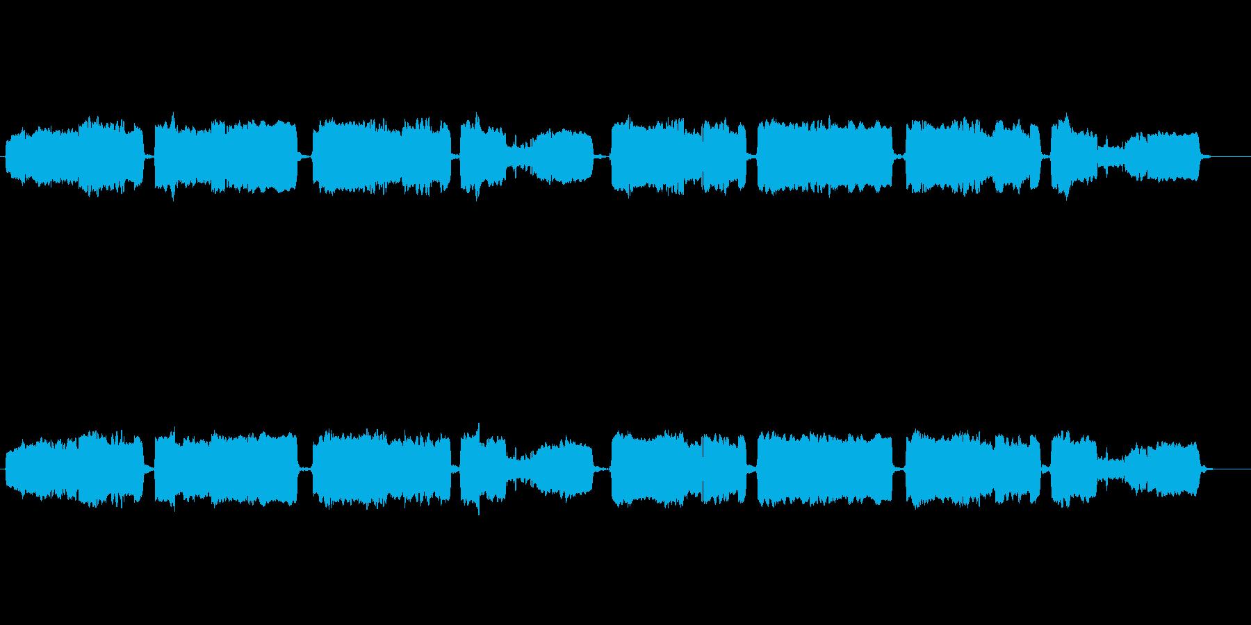 「蛍の光」の篠笛独奏の再生済みの波形