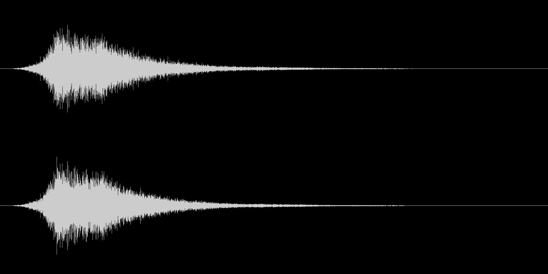 ワープの音。の未再生の波形