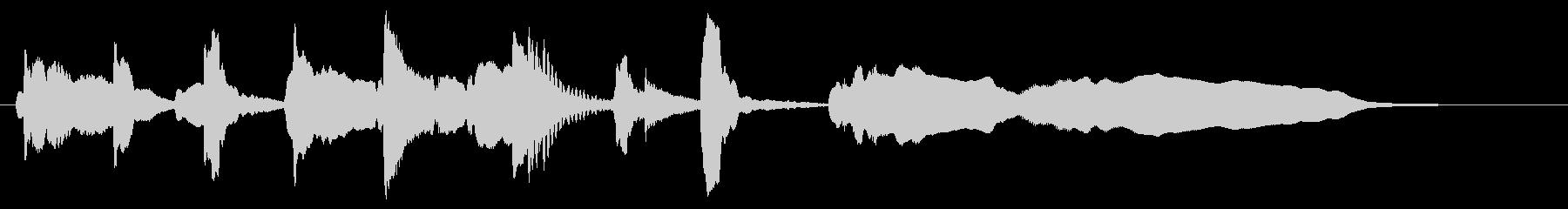 ねこの可愛いジングルの未再生の波形