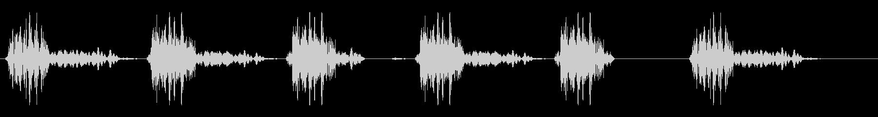 楽器でリズムを刻んでいる音の未再生の波形