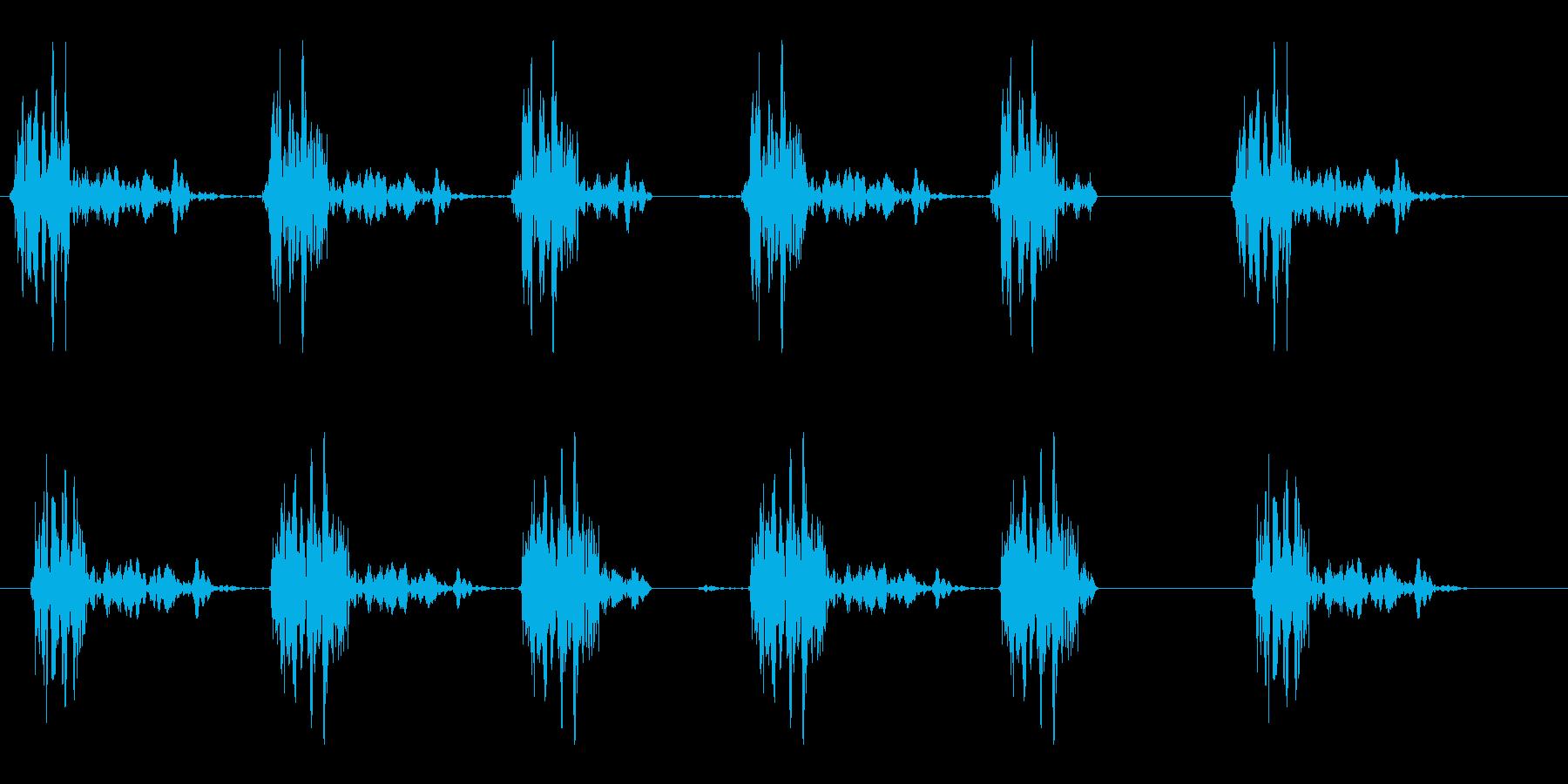 楽器でリズムを刻んでいる音の再生済みの波形