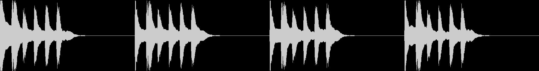 シンプル ベル 着信音 チャイム C-5の未再生の波形