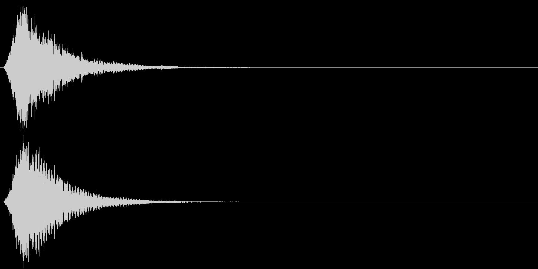刀 キーン 剣 リアル インパクト Jの未再生の波形