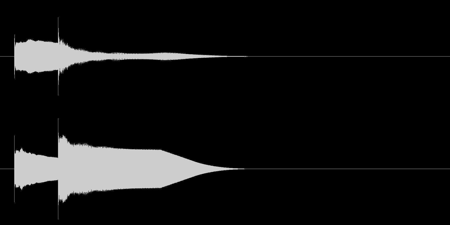 グロッケン系 キャンセル音3(小)の未再生の波形