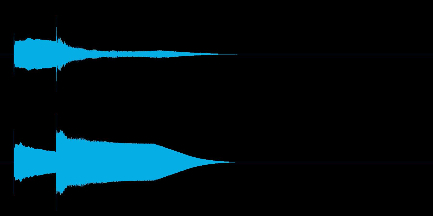 グロッケン系 キャンセル音3(小)の再生済みの波形