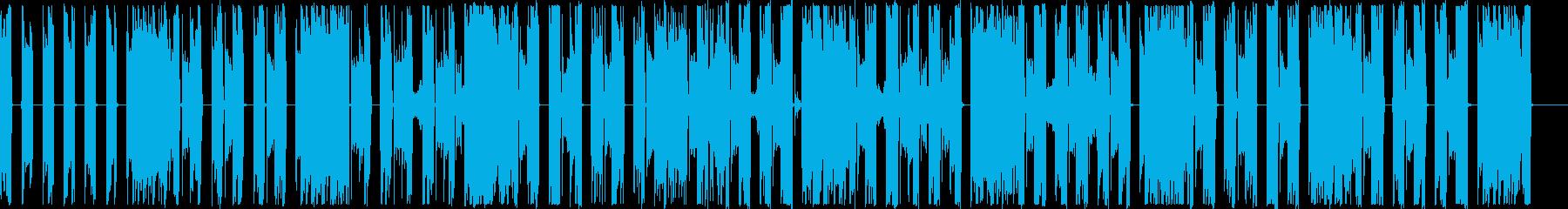 不思議でスタイリッシュな生音系楽曲の再生済みの波形