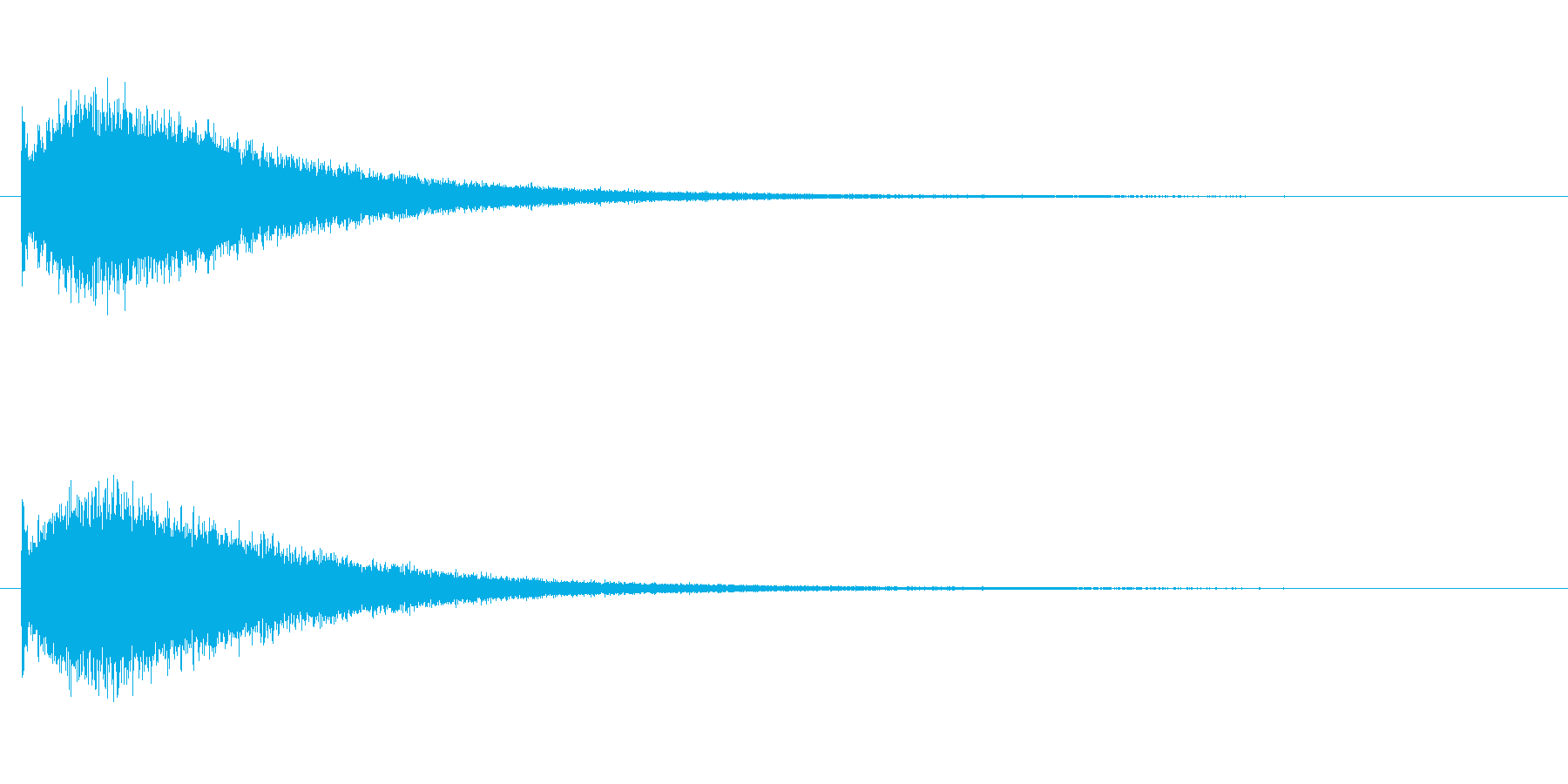 『ジャーン!』派手な中国ドラの単発音の再生済みの波形