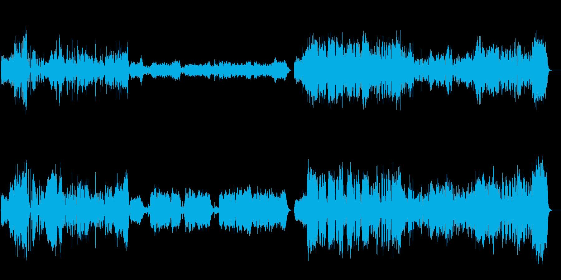 何か物語が始まりそうなミュージカル風序曲の再生済みの波形