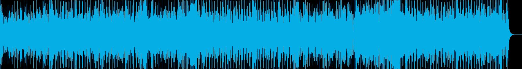 ディスコな感じのエレクトロハウスの再生済みの波形
