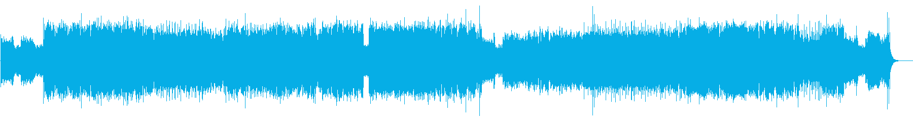 ギターサウンドが映えるROCKな楽曲の再生済みの波形